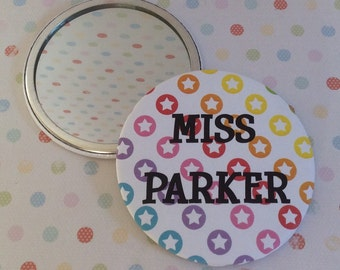 Personalised Handbag/Purse/Clutchbag Compact Mirror