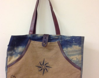 SALE...SALE....Love this Recycled Canvas Tote/Purse!!!! Add a monogram or saying!!!!