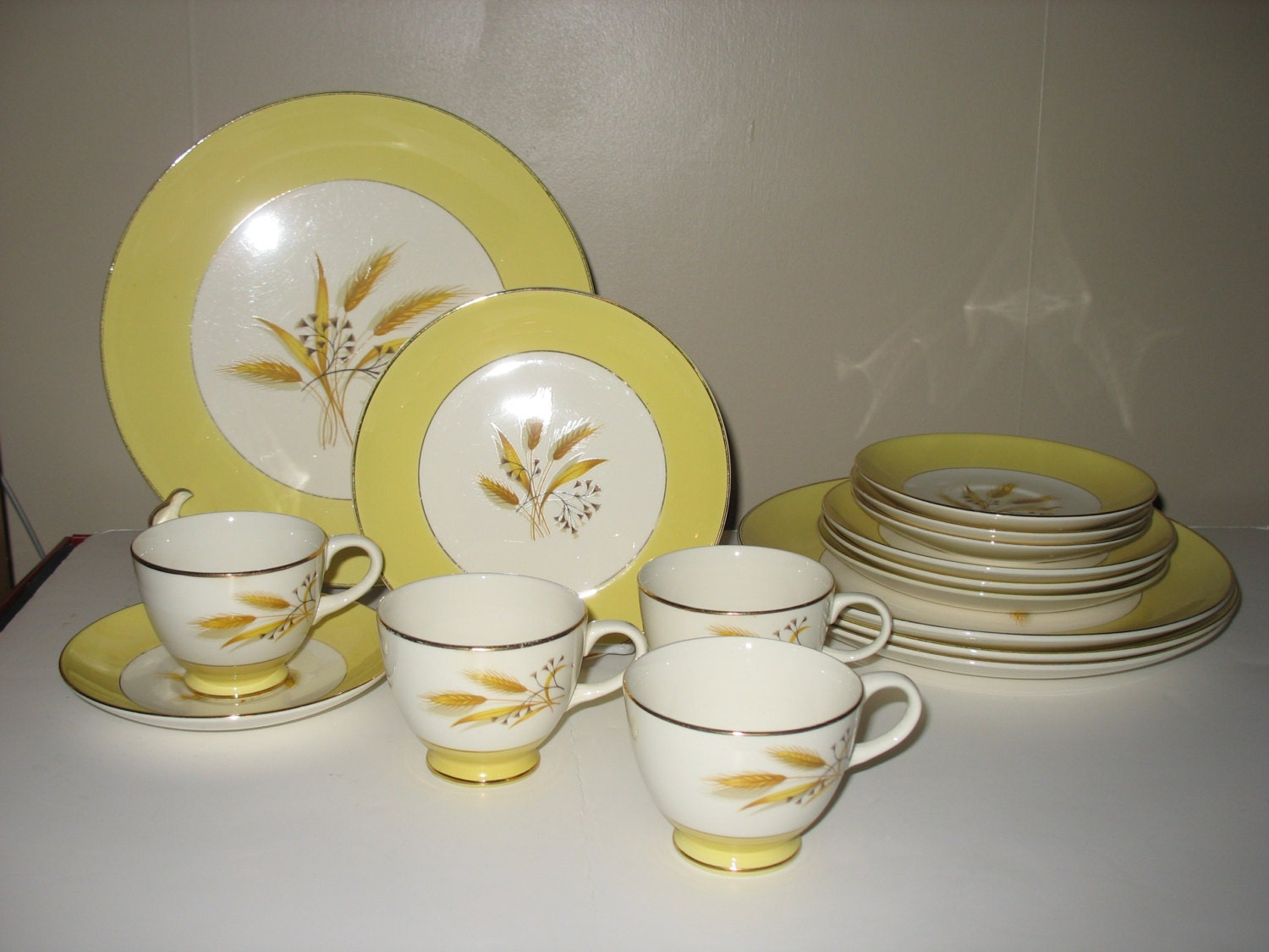 1950's Autumn Gold China by Century Service Corp