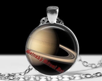 Saturn pendant Astrology necklace Planet jewelry Magic jewellery #433.6