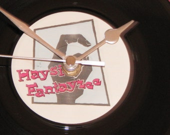 "Haysi Fantayzee john wayne is big leggy  7"" vinyl record clock"