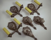 Rare Large Set of Beautiful Restored Riddle Wall Sconces (Set of 6)-HOLD FOR KARI