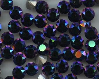 1088 SS39 SCG***  6 Swarovski rhinestones point back SS39 (8,3mm) crystal scarabaeus green