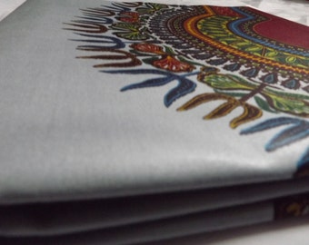 Print by Vlisco in Holland, Real dutch Java,DASHIKI, Angelina Grey 6 yards