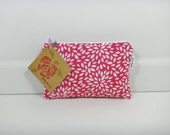 Floral Burst Small Cosmetic Bag, Small Pouch, Makeup Bag, Small Pouch Purse, Small Cosmetic Pouch, Zipper Pouch, Makeup Pouch