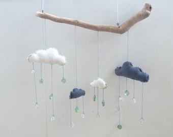 """Driftwood Ecofelt Cloud Mobile """"Sunshower"""""""