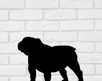 Bulldog Dog Wall Decal Stickers  - 1 to 19 inches high Bedroom Nursery Wall Large Wall Art