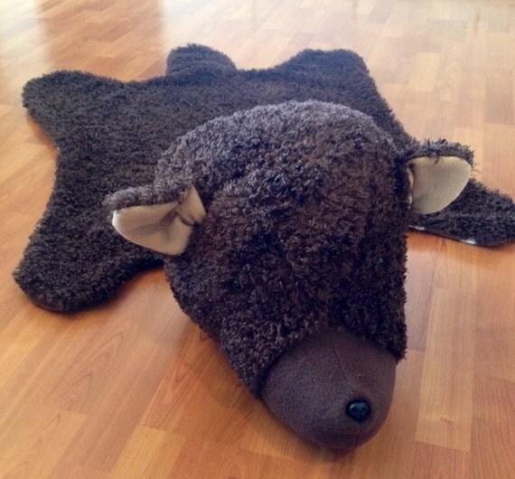 Faux BEAR Rug Bear Nursery Rug Rustic Bear Nursery Decor