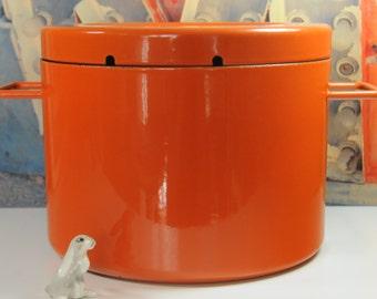 Rare 6 Qt. Copco by Michael Lax Enamelware Stockpot in Orange