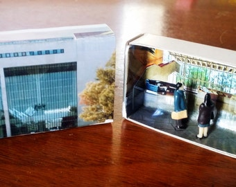 Matchbox Building: Matchbox Miniature of The High Court, Canberra, Australia.