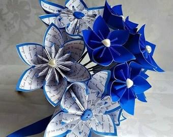 Sapphire Anniversary Gift/45th Wedding Anniversary Gift//First Anniversary Gift/Paper Flowers Bouquet/ Origami Bouquet/Origami Paper Flowers