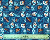 Olaf frozen flannel fabric