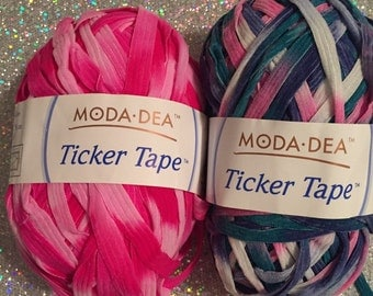 Moda Dea Ticker Tape yarn- many colors available! Different brands as well.