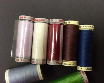 Gutermann x 2 plus Lester x 4 100 metres  sewing threads  REF ET 1051