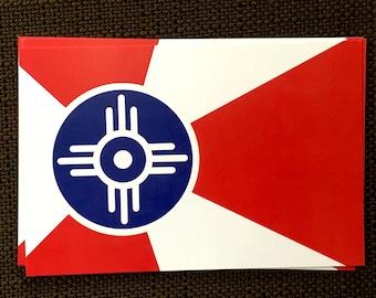 ICT Wichita Flag Postcards