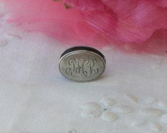 Napkin Clip - Sterling Silver - Antique