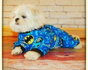 Batman  Flannel Dog Pajamas
