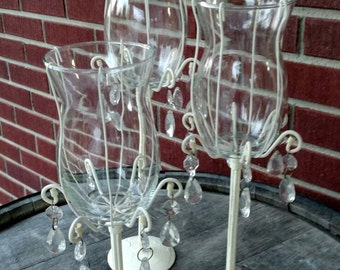 Set of three vintage candle holders, upcycled. FREE SHIPPING!    Item # 1019165