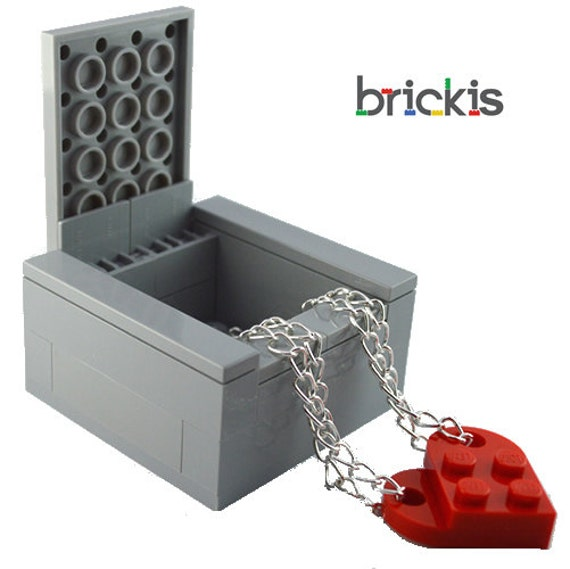 Gift box made of LEGO® bricks for wedding rings or minifigures