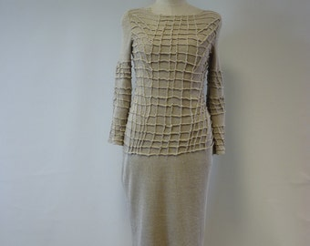 Sale, new price 99, original price 120. Exceptional artsy natural linen dress, M size. One-of-a-kind.