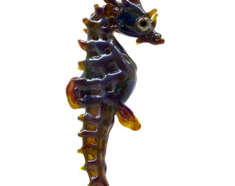 Small Glass Seahorse Ornament/Pendant