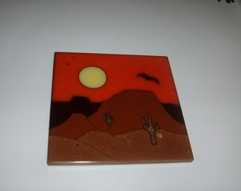 Vintage Made in Itly decorative tile