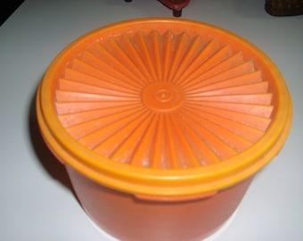 Vintage orange Tupperware rice bowl