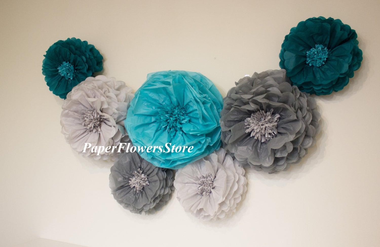3d Decorations Tissue Paper Flowers Set Of 7 34 Huge Paper