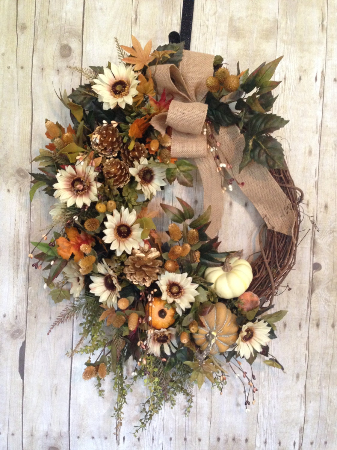 On Sale Fall Wreath Fall Wreath For Front Door By Spratsdesign