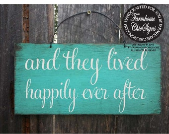 happily ever after sign, wedding sign, rustic wedding, wedding decor, flower girl sign, wedding decoration, rustic decoration, 66/102