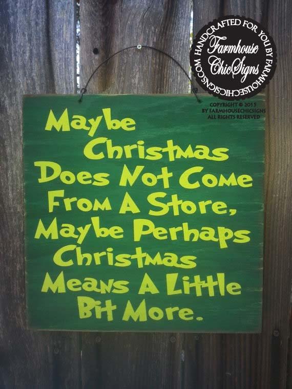 Christmas decor christmas decoration grinch sign grinch for Christmas decoration quotes