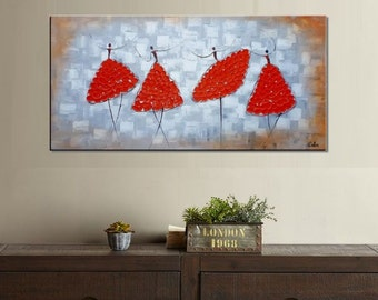 Wall Art, Oil Painting, Ballet Dancer Painting, Canvas Art, Abstract Art, Canvas Painting, Abstract Painting, Bedroom Wall Art, Large Art