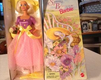 1995 Avon Spring Blossom Barbie Doll MIB