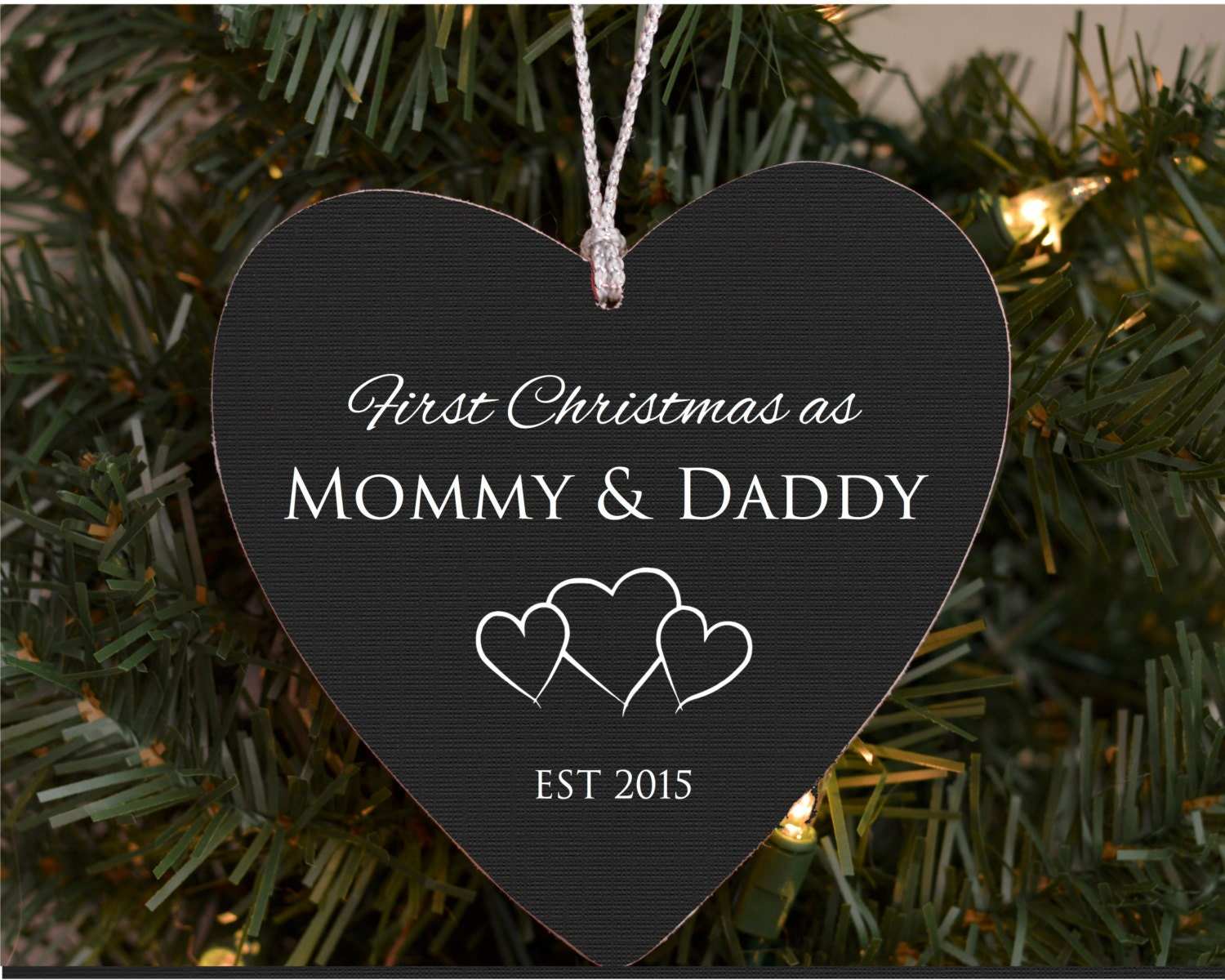 Christmas ornament expecting baby - Our First Christmas As Mommy Daddy Personalized Christmas Ornament New Parents Ornament New Baby Ornament