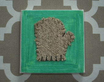 Tiny Mitten #8 Fabric Wall Art