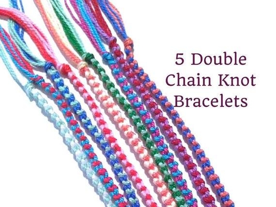 5 string bracelets double chain knot bracelets friendship. Black Bedroom Furniture Sets. Home Design Ideas