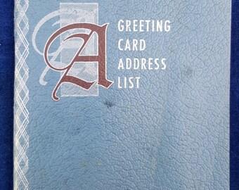 1940s unused Greeting Card Address List