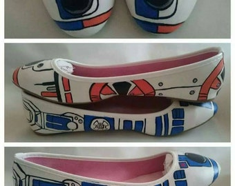 Custom Geeky Painted Flats