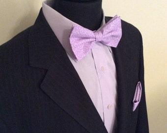 Purple and Lavendar Bow Tie
