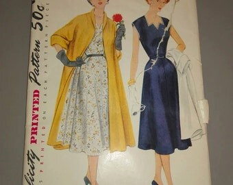 Vintage Simplicity pattern  8447 coat and dress 1950