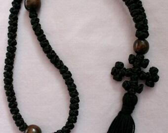 Chotki/Komboskini 100 knot Eastern Orthodox Jesus Prayer Rope w/ Jerusalem-Style Cross and Tassel