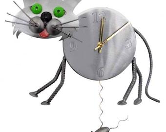 Green Eyed Cat Wall Clock