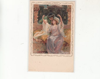 Undivided Back Antique Postcard Early 1900s Shakespeare Characters Romeo And Juliet