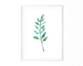 PRINTABLE poster wall art scandinavian forest LEAVE scandi design urban joungle PRINT