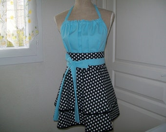 "Retro kitchen ""like me"" apron chic and elegant for women"