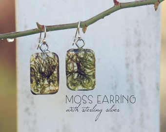 Green Moss Earrings