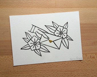 "5"" x 7"" Dear John Letter - Handmade Print"