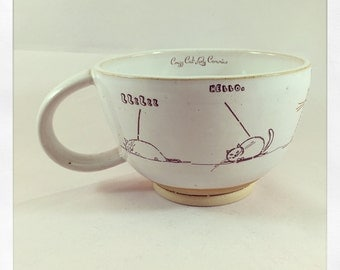 Doodle Cats- tea cup