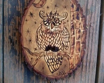 Owl Wood Burning
