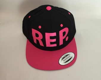 Hot Pink Rep Snapback Hat